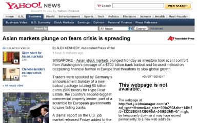 Financial Turmoil Spread